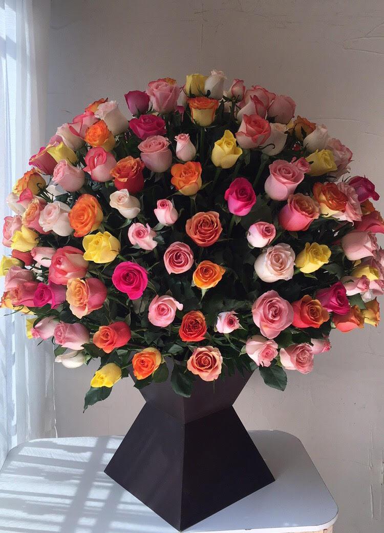 Espectacular De 200 Rosas De Colores Flores Regias