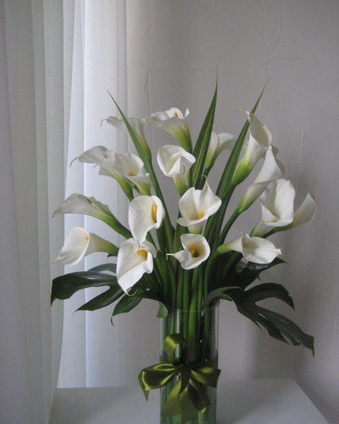 Florero Con 20 Alcatraces Flores Regias