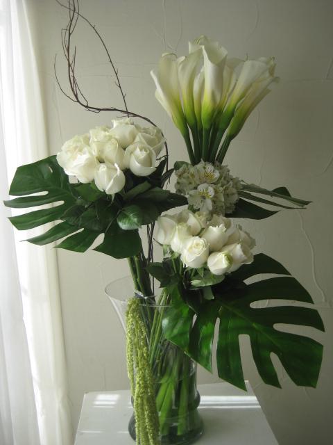 Alcatraces Y Rosas Blancas Flores Regias
