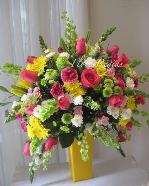 El más bello amarillo y rosa