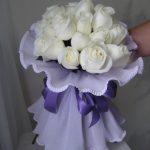Bouquet 24 rosas blancas