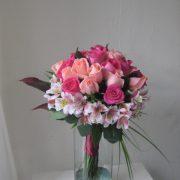 Bouquet en cilindro de 24 rosas rosas