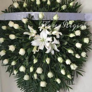 Corona de 50 rosas blancas