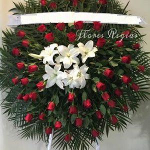 Corona de 50 rosas rojas