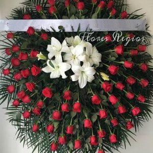 Corona de 75 rosas rojas