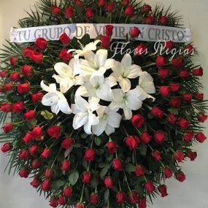 Corona de 100 rosas rojas