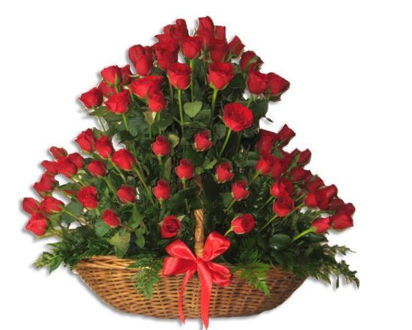 Espectacular 75 rosas rojas